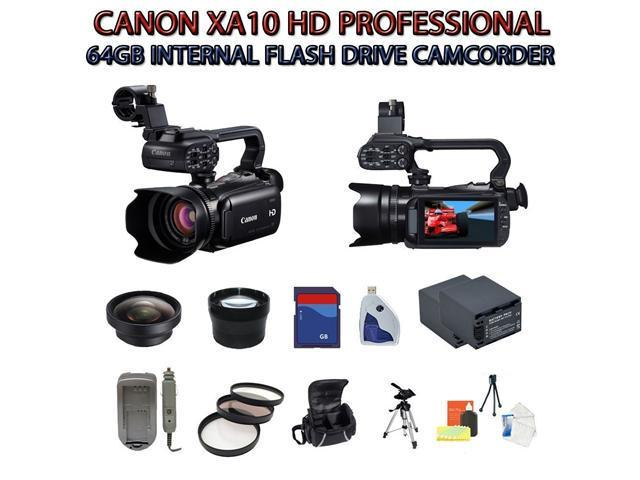Canon XA10 HD Professional Camcorder with SSE Huge Lens Package