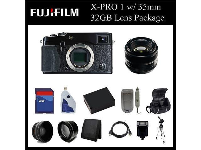 Fujifilm X-Pro 1 Digital Camera w/ 35mm f/1.4 XF R Lens - 16225391 - 32GB Digital Camera Lens Package