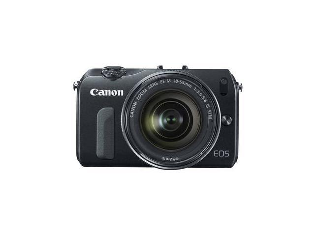 Canon EOS-M Mirrorless Digital Camera with EF-M 18-55mm f/3.5-5.6 IS STM Lens (Black)