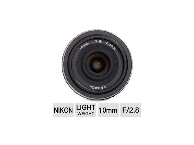 Nikon 1 Nikkor (3306) 10mm f/2.8 Lens (Black) for CX Format (White Box)