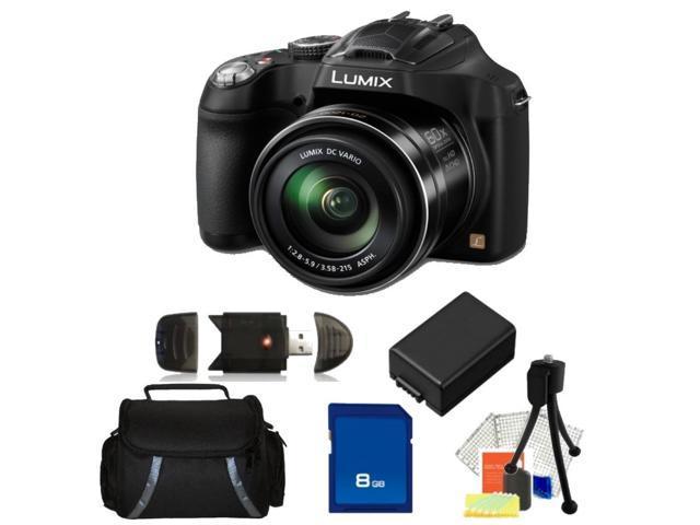Panasonic LUMIX DMC-FZ70K Black 16.1 MP 60X Optical Zoom Digital Camera - FZ70 Kit 1