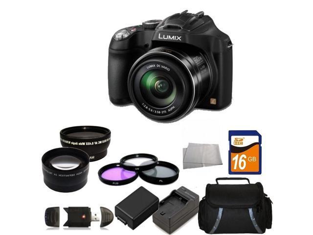 Panasonic LUMIX DMC-FZ70K Black 16.1 MP 60X Optical Zoom Digital Camera - FZ70 Kit 2