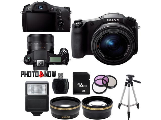 Sony Cyber-shot DSC-RX10 20.2MP Full HD 1080P Digital Camera DSCRX10/B Essential Bundle