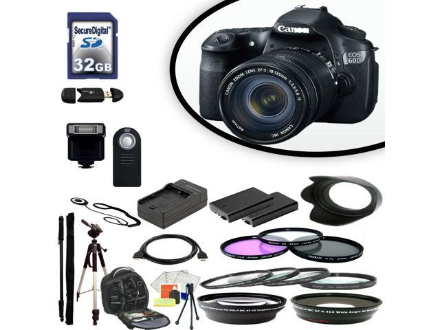Canon EOS 60D Digital SLR Camera With 18-135 IS Lens & Ultimate Accessory Bundle