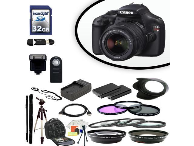 Canon EOS Rebel T3 Digital SLR Camera With 18-55mm Lens & Ultimate Accessory Bundle