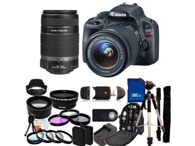 Canon EOS Rebel SL1 DSLR Camera with 18-55mm f/3.5-5.6 EF-S IS STM & 55-250mm Lenses - Kit 1