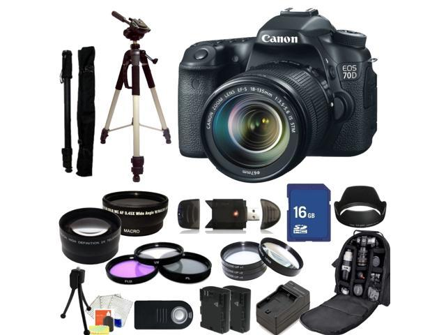 Canon EOS 70D DSLR Camera with 18-135mm STM f/3.5-5.6 Lens - Kit 1