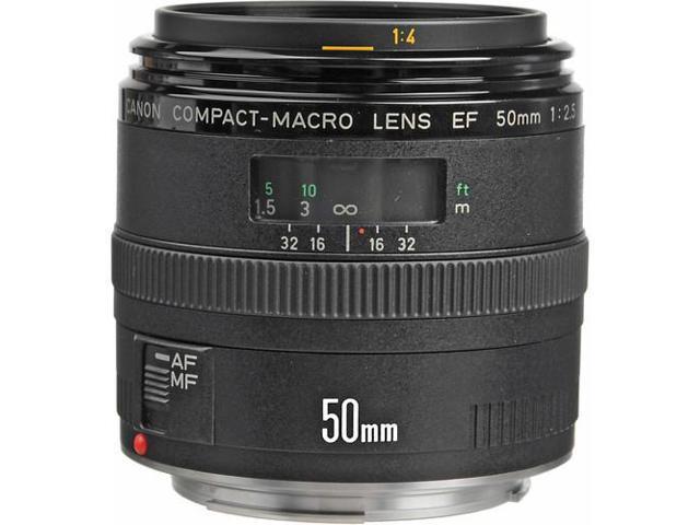 Canon EF 50mm f/2.5 Compact Macro Lens (Bulk Packaging)