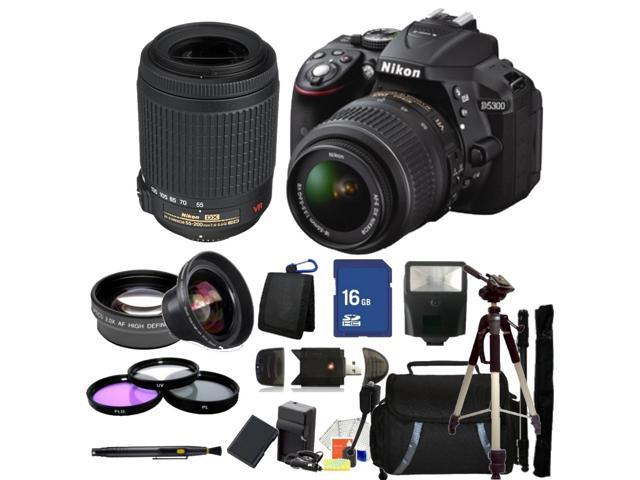 Nikon D5300 Digital SLR Camera With 18-55mm Lens & 55-200mm VR Kit