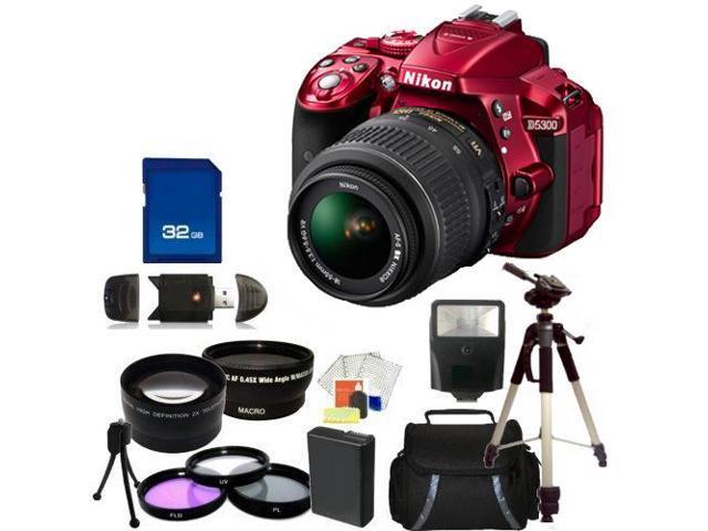 Nikon D5300 Digital SLR Camera With 18-55mm Lens Kit 4 (Red)