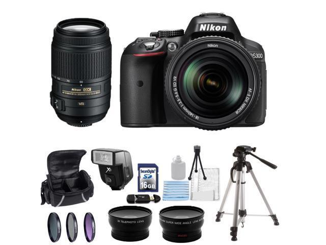 Nikon D5300 Digital SLR Camera With 18-140mm Lens & 55-300mm VR Lens Kit 1