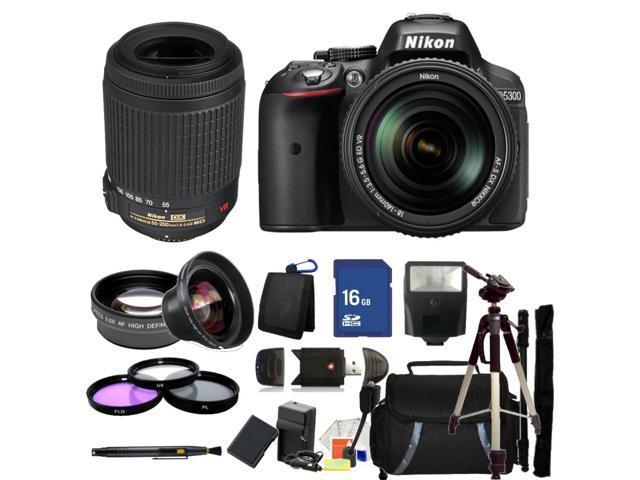 Nikon D5300 Digital SLR Camera With 18-140mm Lens & 55-200mm VR Kit