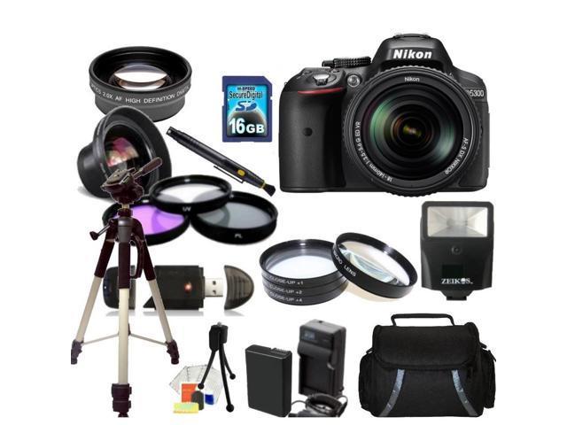 Nikon D5300 Digital SLR Camera With 18-140mm Lens Kit 3