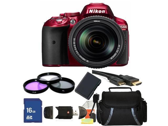Nikon D5300 Digital SLR Camera Red With 18-140mm Lens Kit 1