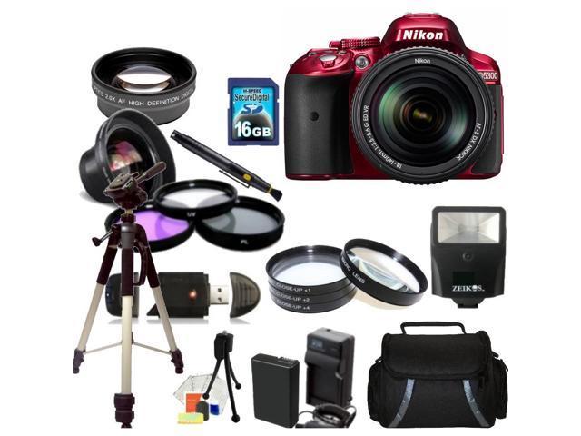 Nikon D5300 Digital SLR Camera Red With 18-140mm Lens Kit 3