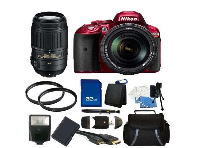 Nikon D5300 Digital SLR Camera Red With 18-140mm Lens & 55-300mm VR Lens Kit 2