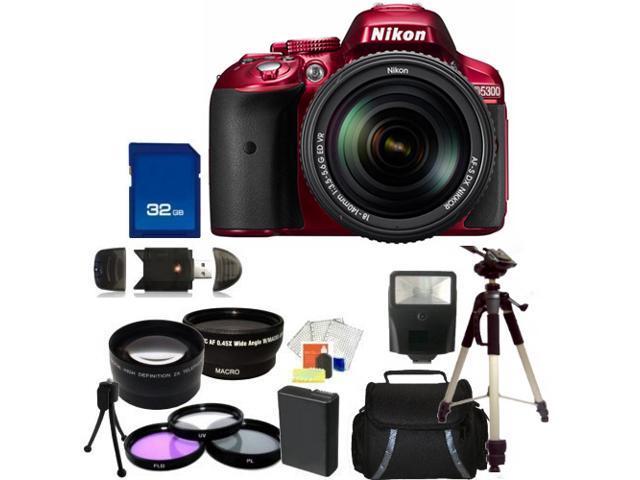 Nikon D5300 Digital SLR Camera Red With 18-140mm Lens Kit 4