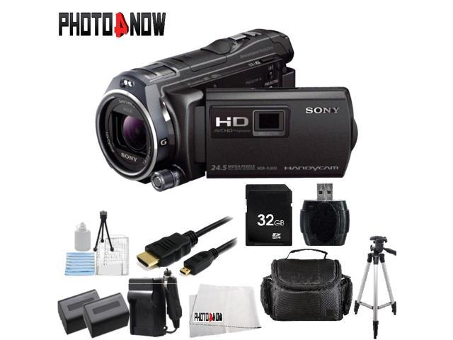 Sony 32GB HDR-PJ810 Full HD Handycam Camcorder with Built-in Projector (Black) With Essential Bundle