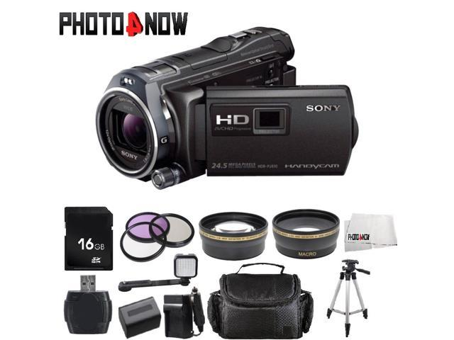 Sony 32GB HDR-PJ810 Full HD Handycam Camcorder with Built-in Projector (Black) With Advanced Bundle