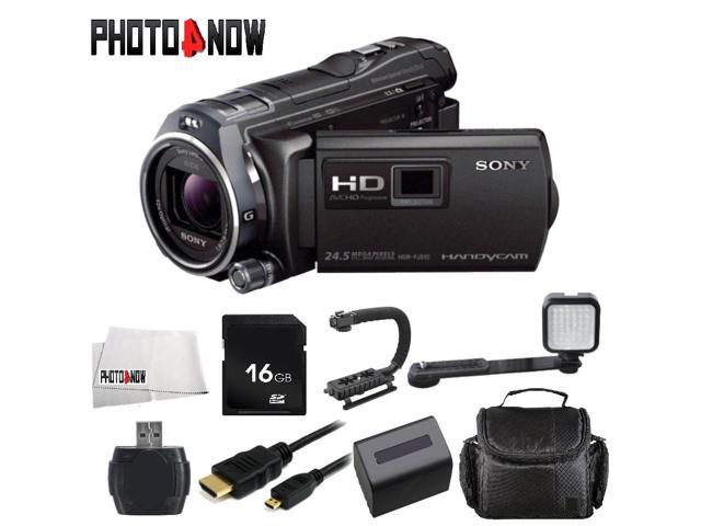 Sony 32GB HDR-PJ810 Full HD Handycam Camcorder with Built-in Projector (Black) With Starter Bundle