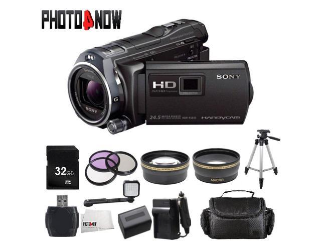 Sony 32GB HDR-PJ810 Full HD Handycam Camcorder with Built-in Projector (Black) With Professional Bundle