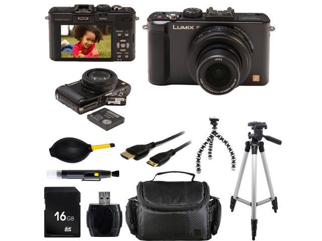 Panasonic Lumix DMC-LX7 Digital Camera (Black) With Photo-4-Now Exclusive Starter Bundle