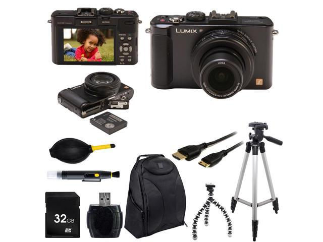 Panasonic Lumix DMC-LX7 Digital Camera (Black) With Photo-4-Now Essential Bundle
