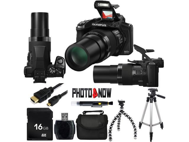 OLYMPUS Stylus SP-100 16 MP 50X Optical Zoom 24mm Wide Angle Digital Camera HDTV Output With Essential Bundle