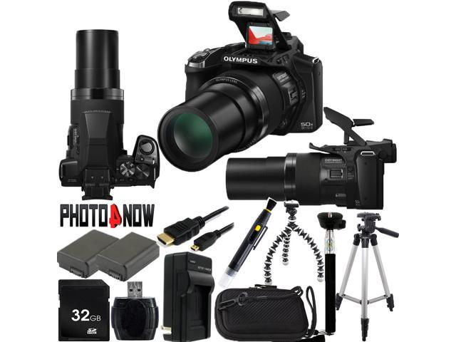 OLYMPUS Stylus SP-100 16 MP 50X Optical Zoom 24mm Wide Angle Digital Camera HDTV Output With Advanced Bundle