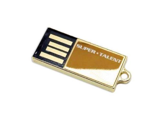 SuperTalent 32GB Pico-C Gold USB Flash Drive. Shock and water resistant. 200X Read Write speed. Model STU32GPCG