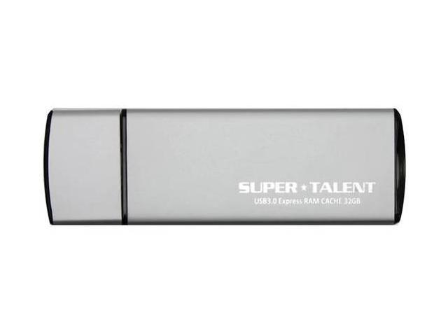 SuperTalent Express RAM Cache 64GB USB 3.0 Flash Drive. Slim and Sleek Aluminum case. High Speed Read and Write Speed. Model ST3U64ERS