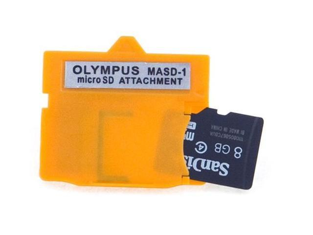 Olympus xD Card adapter for microSD / microSDHC. Converts micro SD or SDHC to xD Card. Color Yellow Model MASD-1