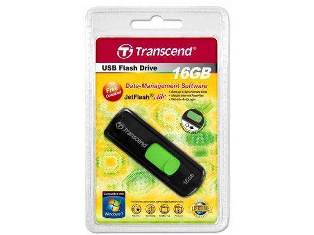 Transcend 16GB JetFlash 500 USB Flash Drive With sliding connector Black Model TS16GJF500