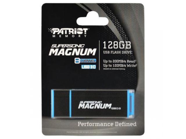 Patriot 128GB Supersonic Magnum USB 3.0 Flash Drive Super Speed 250MB/s. Model PEF128GSMNUSB