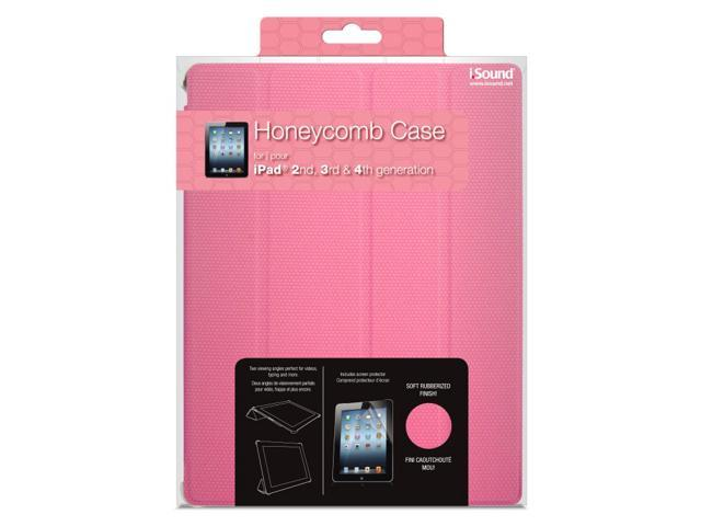 ISOUND Honeycomb Case for iPad 2, 3rd & 4th Gen - Pink. Model ISOUND-4712
