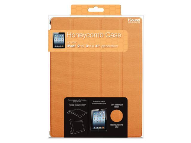 ISOUND Honeycomb Case for iPad 2, 3rd & 4th Gen - Orange. Model ISOUND-4729