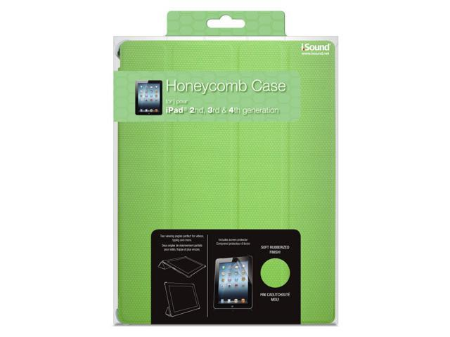 ISOUND Honeycomb Case for iPad 2, 3rd & 4th Gen - Green. Model ISOUND-4730