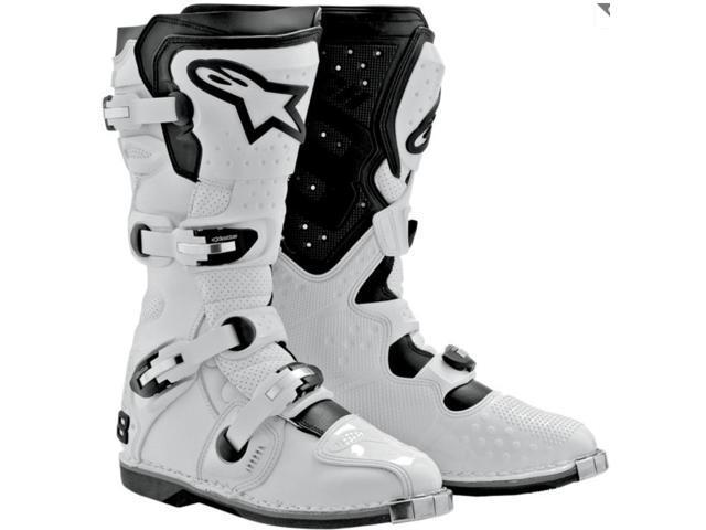 Alpinestars Tech 8 Light White Off-Road Motocross Boots Eur 43 US 9