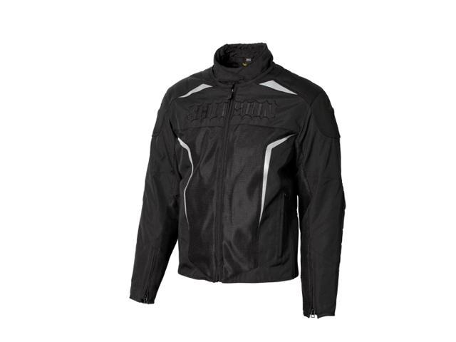 Scorpion Hat Trick 2 Textile Mesh Motorcycle Jacket Black Mens Size Medium