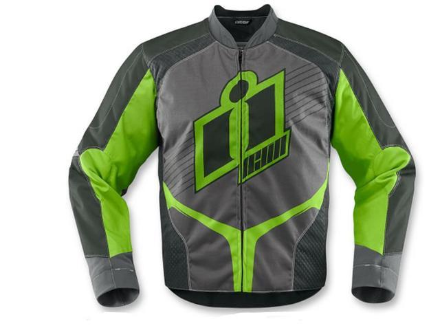 Icon Overlord 2 Motorcycle Jacket Green Medium