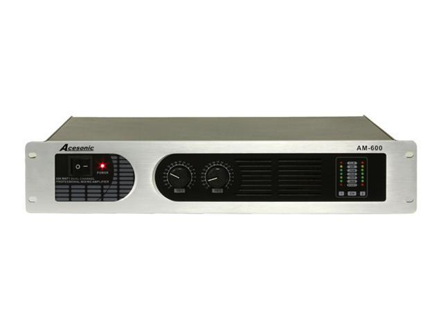Acesonic AM-600 Professional 600W Dual Channel Power Amplifier