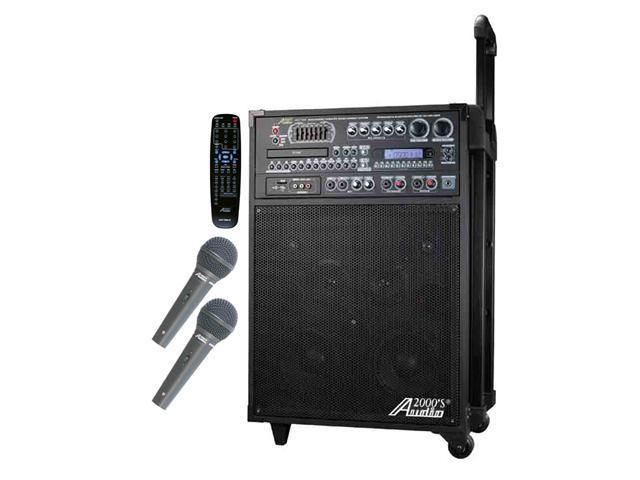 Audio 2000 AKJ7808 Singer's Power 180W Recordable All-In-One Karaoke / PA System