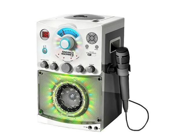 Singing Machine SML-385W CDG Karaoke Machine With Sound and Disco Light System