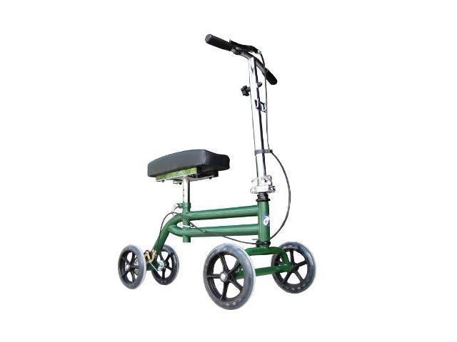 Steerable Knee Walker Foot Ankle Crutch - Scooter in Green