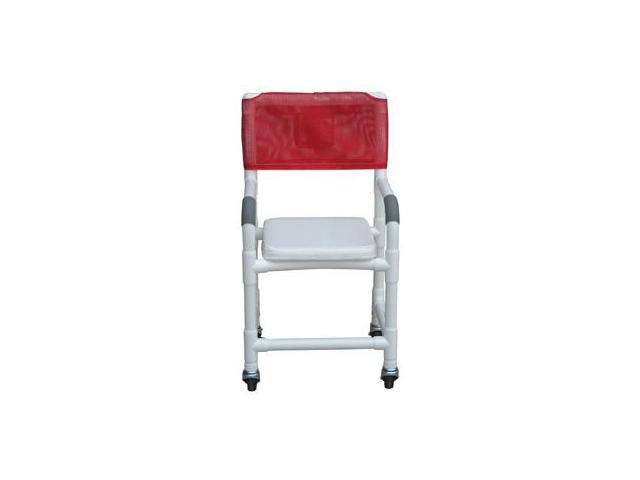 MJM PVC 118-3-SSC Medical Shower Chair Rolling Tub Seat