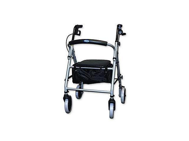 INVACARE Soft Seat Curved Back Aluminum Rollator Walker
