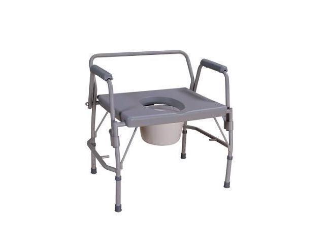 NOVA Heavy Duty Extra Wide Drop Arm Commode Chair Seat