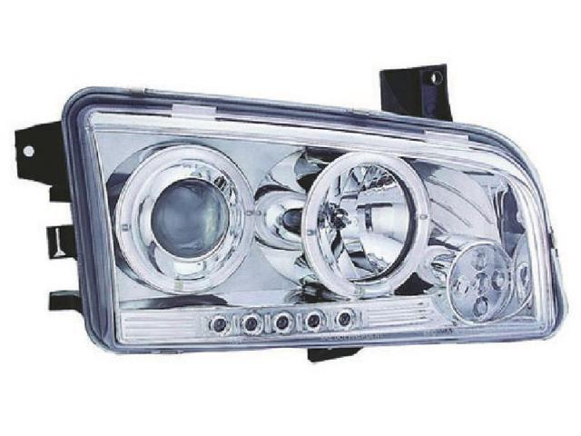 IPCW Projector Headlight CWS-416C2 06-09 Dodge Charger Chrome