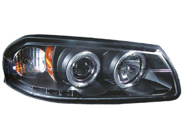 IPCW CWS-316B2 Chevrolet Impala 2000 - 2005 Head Lamps, Projector With Rings Black