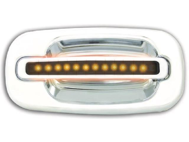 IPCW CLY99S18R Cadillac Escalade 1999 - 2006 LED Door Handle, Rear, Chrome Amber LED Smoke Lens 2Ps. Per Set